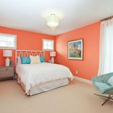 bedroom peach wall color design ideas