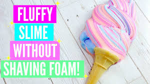 make fluffy slime without shaving foam