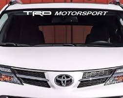 Product Trd Motorsport Windshield Decal