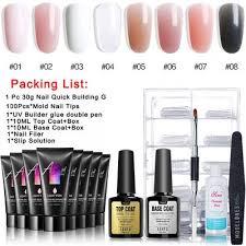 7pcs set acrylic nail gel kit soak off