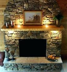 stone mantel shelf floating