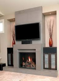 modern fireplace designs with tv above