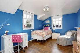 Adorable Blue Kids Room With Hardwood Floor And Vaulted Ceiling Stock Photo C Iriana88w 116767370