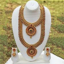 south indian bridal jewellery set in