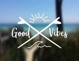Decal Good Vibes Wave Decal Ocean Decal Vinyl Decal Car Window Decal Laptop Decal Yeti De Surf Tattoo Good Vibes Tattoo Good Vibes