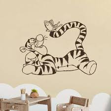 Wall Decal Winnie The Pooh Tigger Vinyl Sticker Cartoon Art Decorations For Home Bedroom Kids Boys Girls Room Nursery Decor S509 Wall Stickers Aliexpress