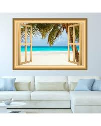 Great Sales On Window Frame Beach Scene Wall Decal East Urban Home Size 28 H X 36 W X 0 01 D