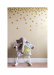 Josephine On Caffeine Posh Dots Metallic Gold Circle Wall Decal Stickers For Festive Baby Nursery Kids