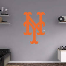 New York Mets Fan Prove It Put Your Passion On Display With A Giant New York Mets Alternate Logo Fathead Wall D Baseball Wall Decal Wall Decals Baseball Wall