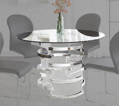 steve silver tayside glass dining table