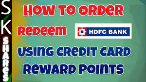 using hdfc credit card reward points