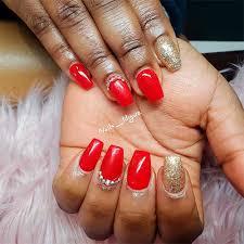 stunning short red acrylic nails ideas
