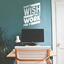 Amazon Com Vinyl Wall Art Decal Don T Wish For It Work For It 26 X 19 Modern Workout Quotes For Home Gym Fitness Health Motivational Positive Lifestyle Locker Room