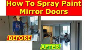 how to paint mirrored closet doors