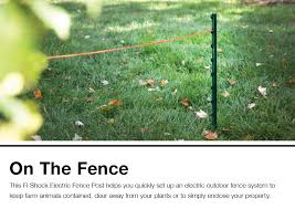 Fi Shock 2 52 Ft Green Plastic Electric Fence Post In The Electric Fence Posts Department At Lowes Com