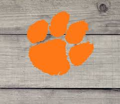 Clemson Tiger Paw Vinyl Decal Clemson University Yeti Auto Cell Phone Oracle Traditional In 2020 Clemson Tiger Paw Tiger Paw Vinyl Decals