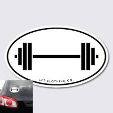 Barbell Sticker The Lft Clothing Company
