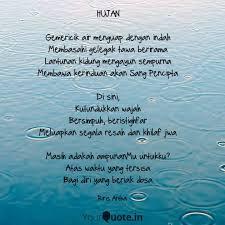 hujan gemericik air meng quotes writings by riris artha