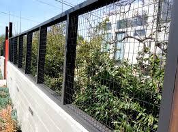 Wire Mesh Cable Fencing Harwell Design Fences Driveway Gates Los Angeles Santa Monica