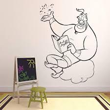 Amazon Com Genie Carpet Aladdin Walt Disney Wall Sticker Vinyl Wall Art Decal For Girls Boys Baby Kid Bedroom Nursery Daycare Kindergarten Cartoon Home Decor Stickers Wall Art Vinyl Decoration Size 10x8 Inch