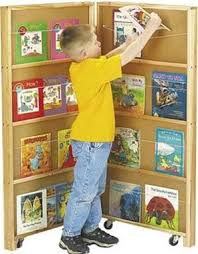 Kids Mobile Library Bookcase 2 Sections For Waiting Rooms Free Shipping Waitingroomtoysnfurniture