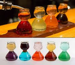 quaffer layered shot glass chaser