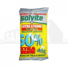 solvite wallpaper adhesive sachet