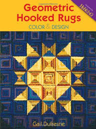 geometric hooked rugs color design