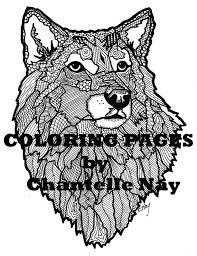 Wolf Kleurplaat Volwassen Kleurplaten Van Dieren Natuur Etsy