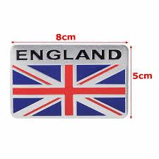 Aluminum England Uk Flag Shield Emblem Badge Car Sticker Decal Universal For Truck Auto Sale Banggood Com