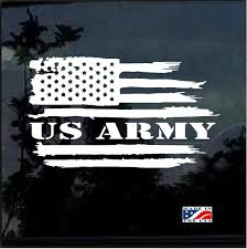 Us Army Weathered American Flag Military Window Decal Stickers American Flag Decal American Flag Sticker Military Stickers