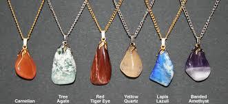 polished stone pendant necklace