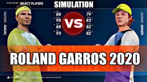 Rafael Nadal vs Jannik Sinner ROLAND GARROS 2020 SIMULATION - YouTube
