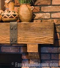 fireplace mantels rugged design ideas