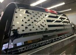 Distressed Ripped American Flag Rear Back Window Vinyl Decal Fit Jeep Gladiator Ebay