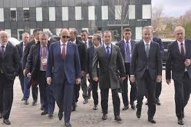 Russian Prime Minister Dmitry Medvedev visits the TMK and Sinara Group R&D  facility in Skolkovo