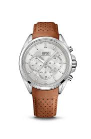 chronograph driver leather strap