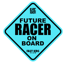 Future Racer On Board Car Decal Blue Eat Sleep Race Racing Lifestyle Apparel