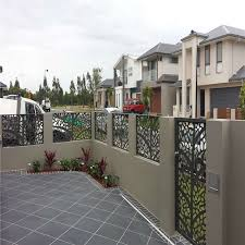 China Powder Coated Metal Fence Steel Railing Aluminum Fence Laser Cutting Screens Panel China Aluminum Fence Laser Cutting Screen