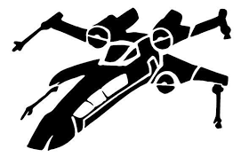 X Wings Decal Vinyl Decals Star Wars Spaceship Car Window Wall Decor Decal Decals Decor Spaceshi Star Wars Spaceships Star Wars Stencil Star Wars Decal