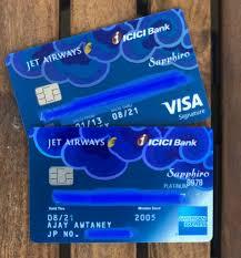 icici jet airways cards