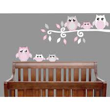 Pink Owl Wall Decals Owl Stickers Forest Animal Owl Nursery Wall Decor Walmart Com Walmart Com