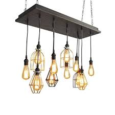 cage pendant chandelier mixed cages