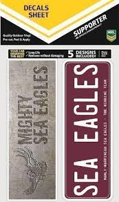 Manly Sea Eagles Nrl Set Of 5 Bumper Decals Car Stickers Itag Guy Stuff