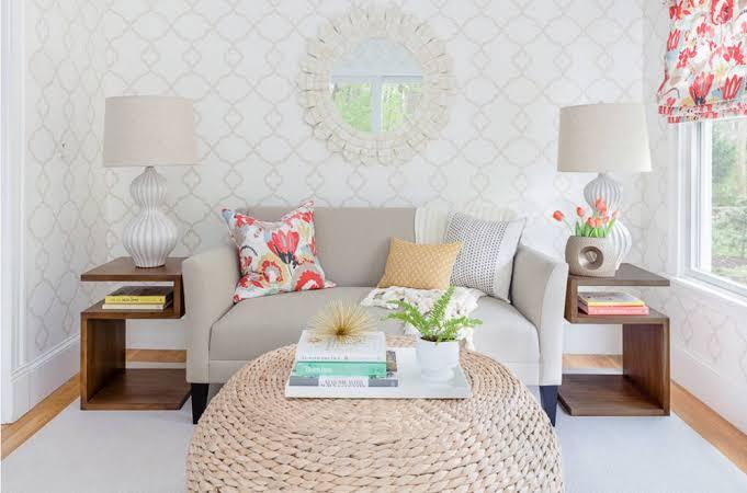 Wallpaper ruang tamu sempit