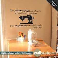 Wall Decal Sewing Quote Vinyl Wall Art Craft Quote Sticker Wall Decor Craft Room Decor Wd0248 Sewing Quotes Sewing Room Inspiration Quilting Room