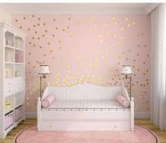 Golden Dots Polka Dot Wall Decor Girl Room Gold Wall Decals