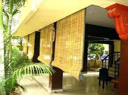exterior porch shade bamboo sun