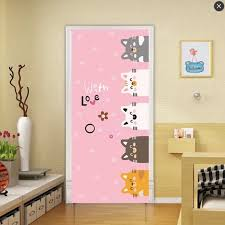 90x200cm Cute Cat Door Decor Stickers For Kids Room Bedroom Cartoon Animal Vinyl Wallpaper Self Adhesive Waterproof Poster Buy At The Price Of 15 19 In Aliexpress Com Imall Com
