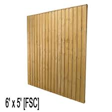 Feather Edge Fence Panel 6ft W X 5ft H Fsc